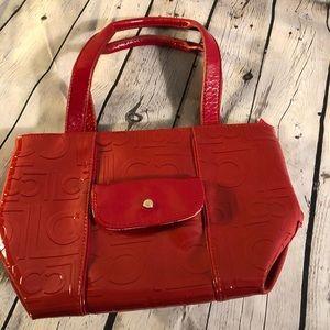 Liz Claiborne Red Leather Purse Very Cute